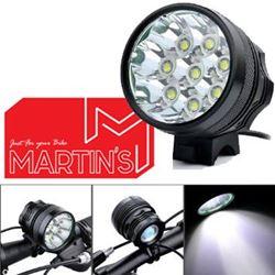 תמונה של ערכת תאורה (פנס קדמי) Martin's Torch 9000Lm