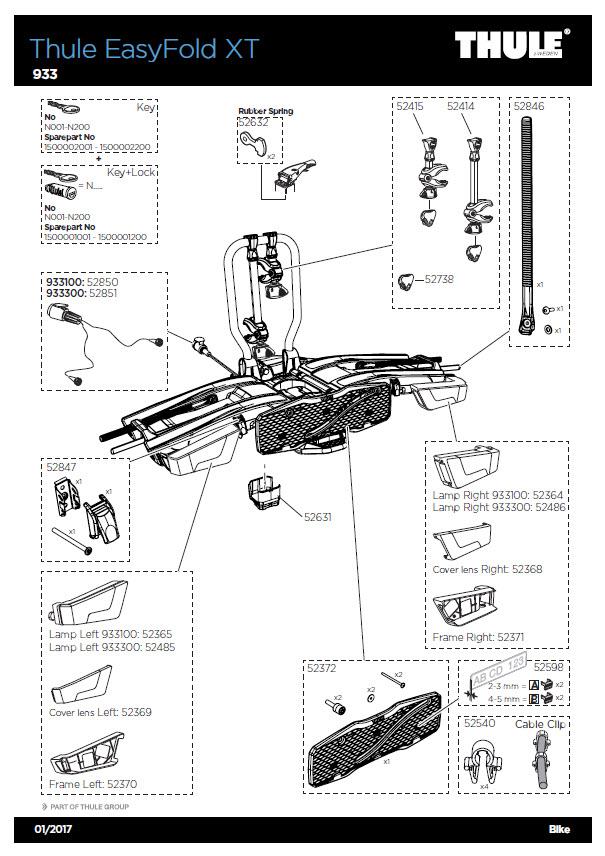 g 933 thule easyfold xt. Black Bedroom Furniture Sets. Home Design Ideas