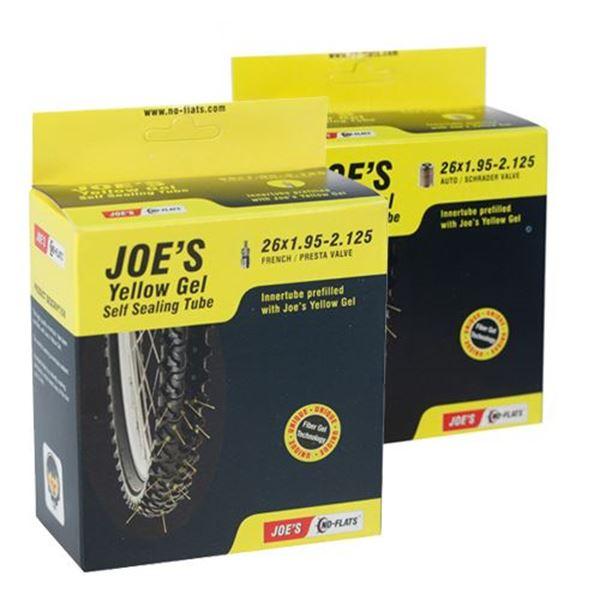 """תמונה של פנימית JOE'S צהובה עם חומר 26"""" ונטיל צרפתי/רגיל"""