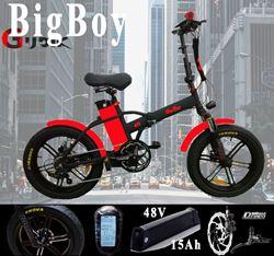 תמונה של אופניים חשמליות מקצועיות בולם קדמי BigBoy  48V