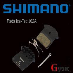 תמונה של רפידות מקוריות בעלות צלעות קירור Shimano Deore XT SLX J02A