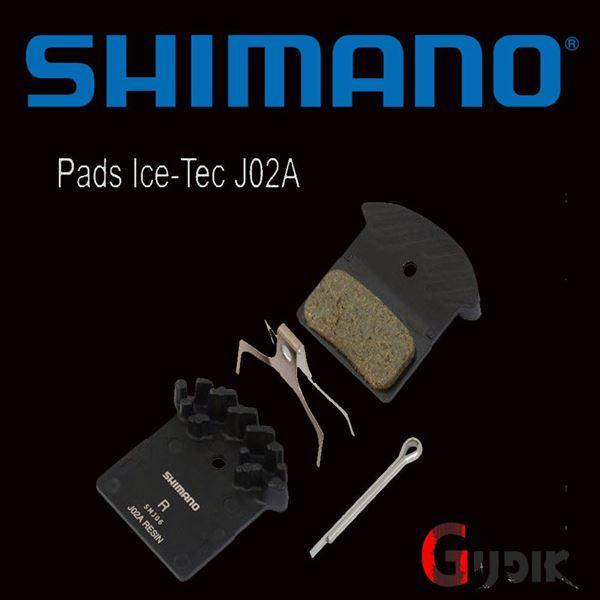תמונה של רפידות ברקס מקוריות בעלות צלעות קירור Shimano Deore XT SLX J02A