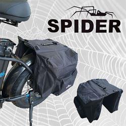תמונה של תיק אחורי כפול לסבל אופניים חשמליים Spider