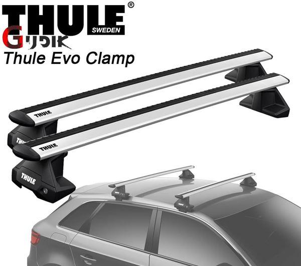 תמונה של גגון אלומיניום THULE Evo Clamp לפי רגל 7105 למשקופים