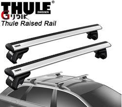 תמונה של גגון אלומיניום THULE Raised Rail לפי רגל 7104 לקשתות אורך