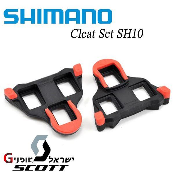 תמונה של קליט אדום לנעלי כביש Shimano SH10