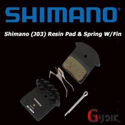 תמונה של רפידות ברקס מקוריות בעלות צלעות קירור Shimano Deore XT SLX J03