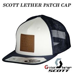 תמונה של כובע מצחייה מקורי Scott Cap Leather Patch