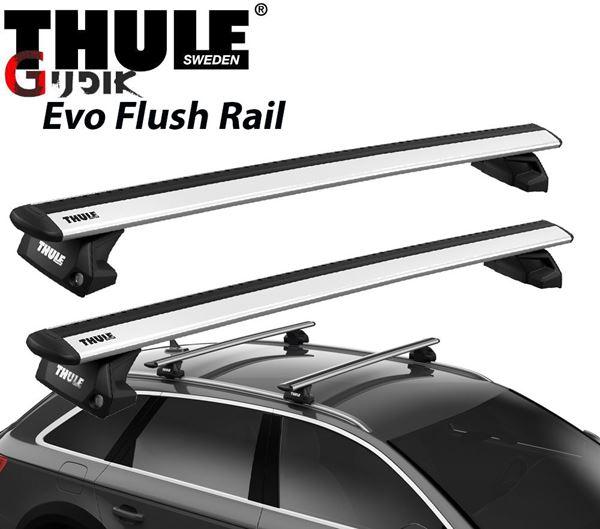 תמונה של גגון אלומיניום THULE Evo Flush Rail לפי רגל 7106 למסילות אורך